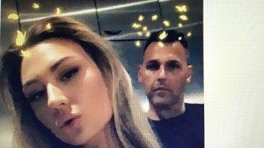 Deceased Melbourne model Baillee Schneider, and her then boyfriend Ant Hampel.