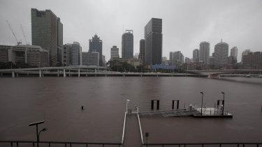 Brisbane's inner city flooded in 2011.