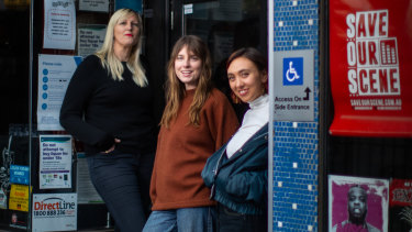 Lara Whalley, Angie McMahon and Alice Skye at The Corner in Richmond.