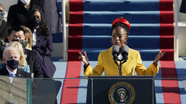 American poet Amanda Gorman during the inauguration ceremony Joe Biden last week.
