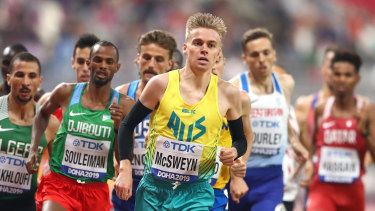 Tasmanian Stewart McSweyn has set the fastest time in seven years for the mile.