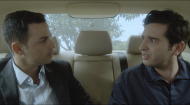 Jihadist Jamal (Tyler De Nawi) with brother Omar (Danny Elacci) in A Lion Returns.