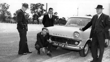 Detectives pictured with Eric Edgar Cooke in After The Night.