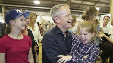Opposition Leader Bill Shorten with daughter Clementine.