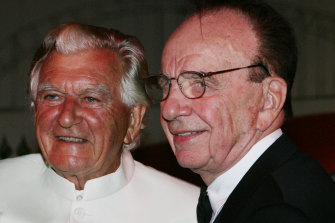 Bob Hawke and Rupert Murdoch pictured in 2009.
