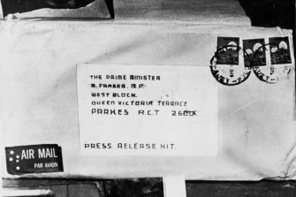 The letter bomb addressed to the Prime Minsiter.