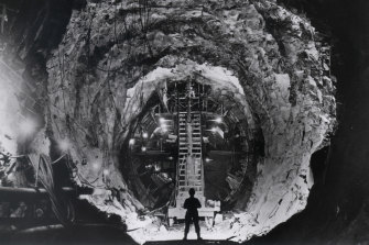 Tunnelling in the Snowy Mountains, 1958.