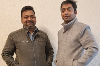 Aloke (left) and Aakash Kumar, have been awarded $200,000 by a court for defamatory Facebook posts.