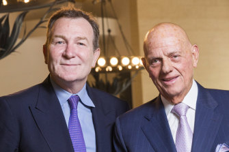 Premier Investments' CEO Mark McInnes and chairman Solomon Lew had a very profitable year.