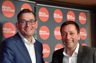 Victorian Premier Daniel Andrews and then opposition leader Matthew Guy in November 2018 ahead of the state election.