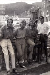 George Johnston and Charmian Clift with their family on Hydra.