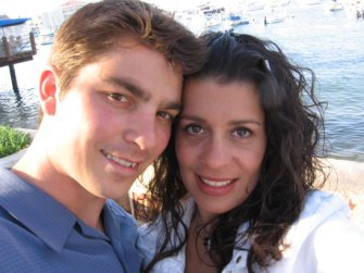 Greg Wards with the mysterious American Lezlie who he married.