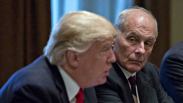 John Kelly, White House chief of staff, with Trump in October.