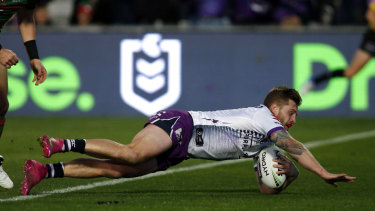 Cameron Munster was among the Storm's best in the victory over South Sydney.