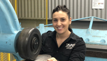 TAFE autobody repair teacher Trudy Camilleri.