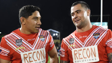 Popular: Andrew Fifita and his Tonga teammates will play in front of a sell-out crowd.