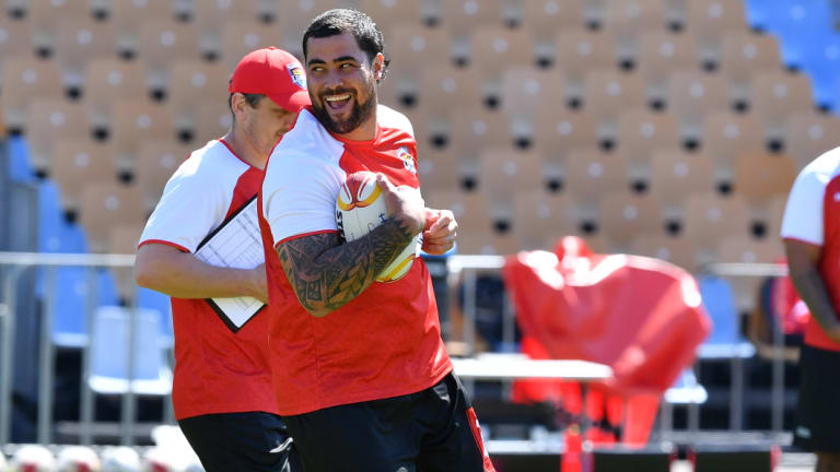 Andrew Fifita ... Someone needs to have a word to the Sharks wrecking ball before he wrecks himself.