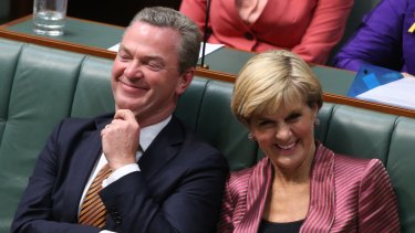 Former ministers Christopher Pyne and Julie Bishop are both facing questions about their post-political jobs.
