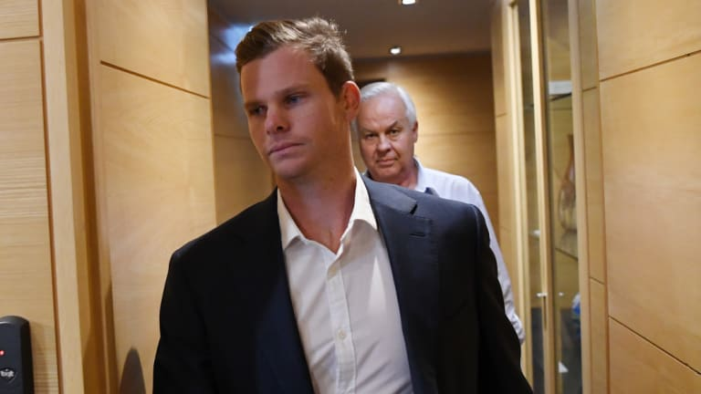Steve Smith before his public apology in Sydney.