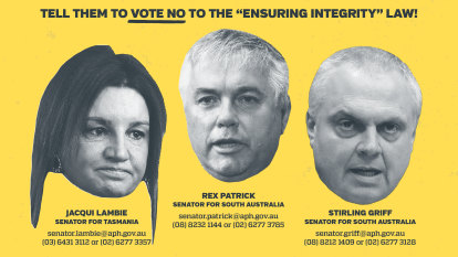 Ad campaign targets crossbench senators over union-busting bill