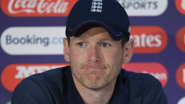 England captain Eoin Morgan is showing the strain after his team's poor start to the World Cup.