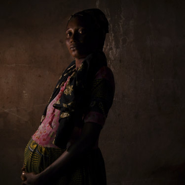 An eight-month pregnant Njiba Mputu was raped and held captive by pro-government Bana Mura militia  for six months before her escape.