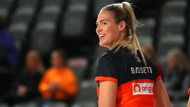 Caitlin Bassett has spent a lot of time on the bench in recent  matches.
