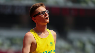 Jaryd Clifford after his T13 5000m final