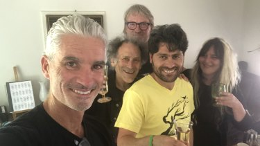 Farhad Bandesh, centre, with (from left): Craig Foster, Arnold Zable, David Bridie and Jenell Quinsee.
