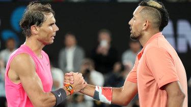 Kyrgios loses bruising four set encounter against Nadal.