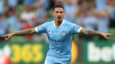 Jamie Maclaren, the league's top scorer, picked up two more goals on Friday night against Macarthur at AAMI Park.