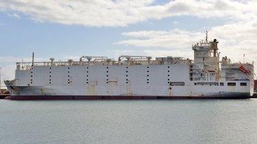 Livestock ship the Awassi Express.