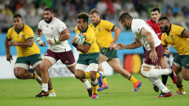 The Wallabies were forced to make a mad dash back to Odawara to get out of the path of Typhoon Hagibis.