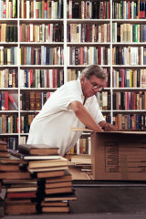 Bookshop owner Larry McMurtry.