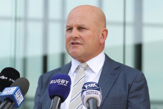 """Interim Rugby Australia CEO Rob Clarke said it was """"an incredibly difficult day"""" for the organisation after a third of staff lost their jobs."""