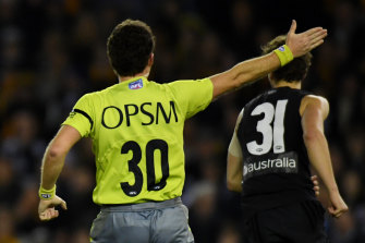 Many AFL umpires have full-time jobs, meaning a move to a quarantine hub would require some juggling.