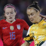 Gallant Matildas go down 5-3 to the United States