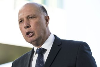 The Department of Home Affairs is overseen by Peter Dutton.