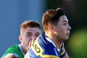Off and running: Mitchell Moses enjoyed a promising start with new halves partner Dylan Brown.
