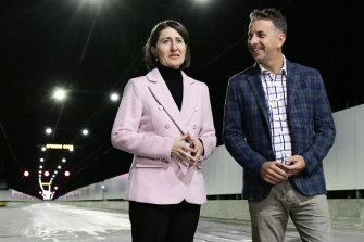 NSW Prime Minister Gladys Berejiklian and Traffic and Road Minister Andrew Constance oversaw the construction of the railroad line.
