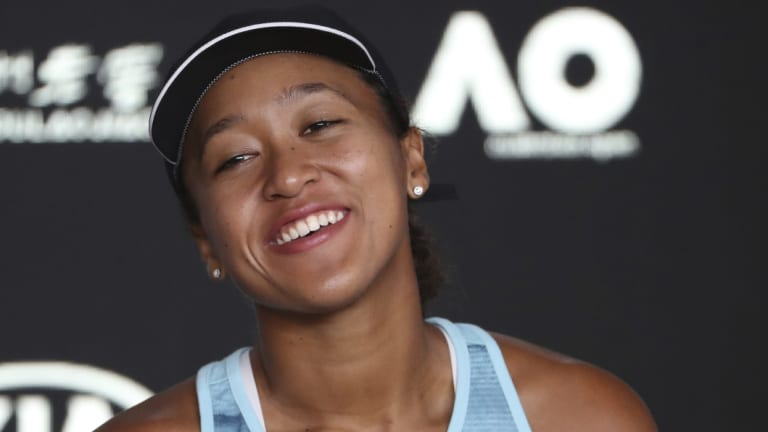 Japan's Naomi Osaka is quietly spoken but all business on the court.