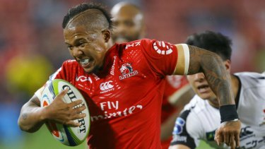 Dangerman: Lions Five-eight Elton Jantjies.
