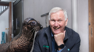 Seal of approval: Kevin Tanner will miss his neighbours when he steps down as director of Melbourne Zoo.