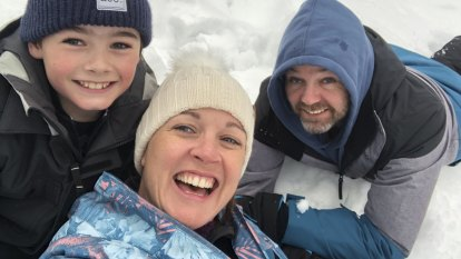 The families escaping for a life in the snow
