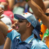 Indian summer: Visiting supporters packed Australia's cricketing venues in their thousands.
