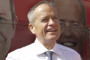 Labor leader Bill Shorten on the campaign trail in Perth on Wednesday.