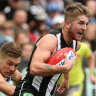 Collingwood's Sam Murray, banned for a match-day positive drug test.