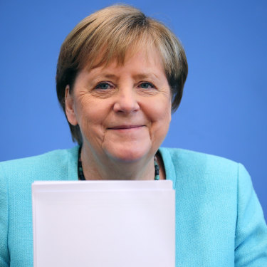 Job done: Angela Merkel is leaving the world stage after 16 years as German Chancellor.