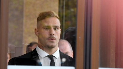 NRL has used its brand to sear mark on de Belin before his day in court
