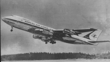 A South Korean Airlines Boeing 747 jumbo jet, similar to this one, was shot down, killing all aboard.